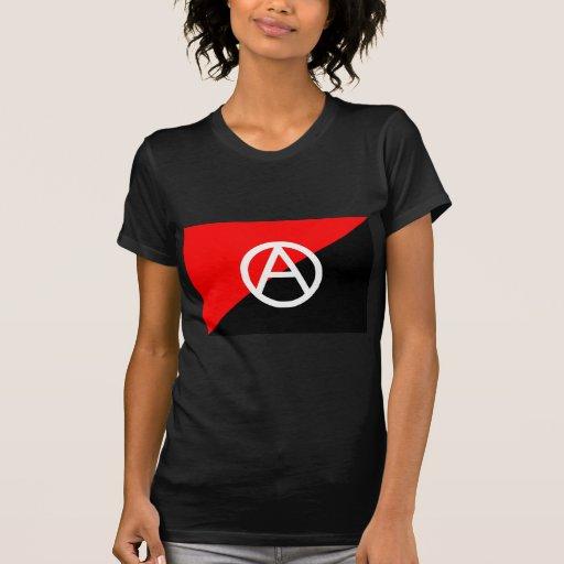 Anarquía blanco y negro roja de la bandera del ana camiseta