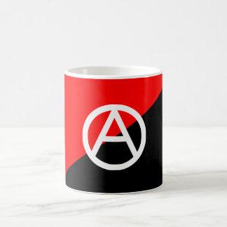 Anarquía blanco y negro roja de la bandera del taza clásica