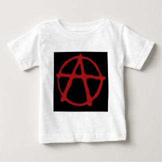 Anarquía. Camiseta negra con símbolo rojo