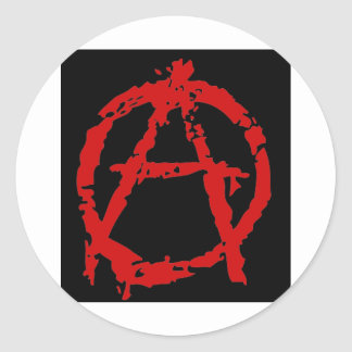 anarquia_ classic round sticker