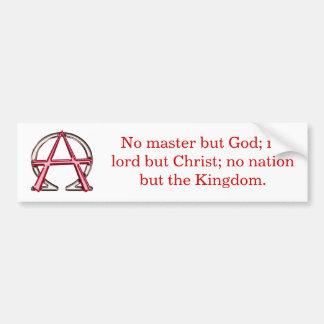 Anarquía cristiana pegatina de parachoque