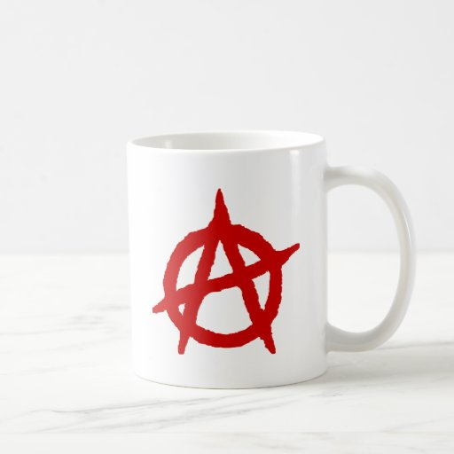 Anarquía en rojo taza de café