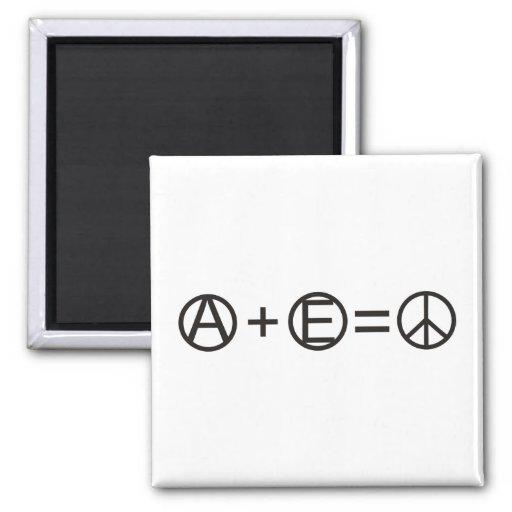 Anarquía + Igualdad = paz Imán Cuadrado