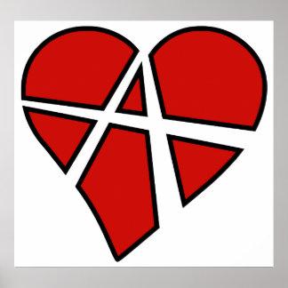 Anarquía imprudente del corazón de las relaciones  impresiones