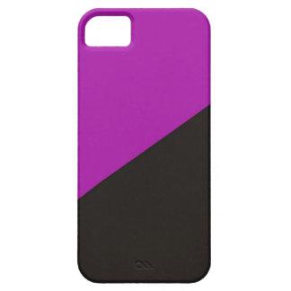 anarquía negra púrpura de la bandera del feminismo iPhone 5 carcasas