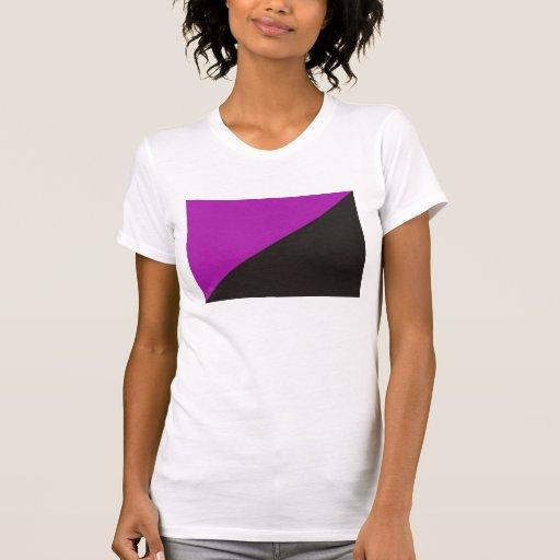 anarquía negra púrpura de la bandera del feminismo polera