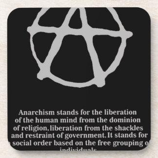 anarquía posavasos de bebidas