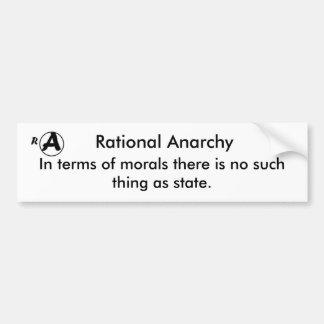 Anarquía racional pegatina para auto