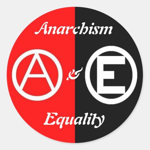 anarquismo y pegatina de la circular de la