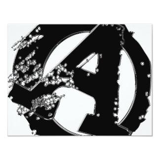 """Anarquista americano invitación 4.25"""" x 5.5"""""""