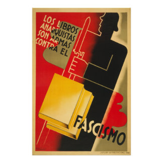 Anarquista de la guerra civil española/poster de F Póster