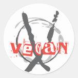 Anarquista del vegano pegatina redonda