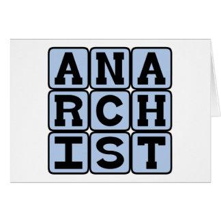 Anarquista, persona subversiva tarjeta de felicitación