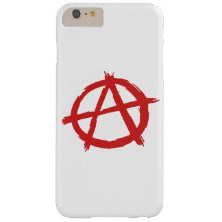 Anarquista rojo un logotipo de la anarquía del funda barely there iPhone 6 plus