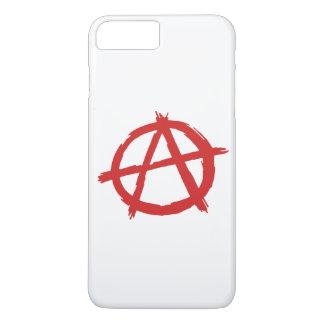 Anarquista rojo un logotipo de la anarquía del funda iPhone 7 plus