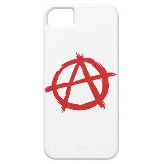 Anarquista rojo un logotipo de la anarquía del funda para iPhone SE/5/5s