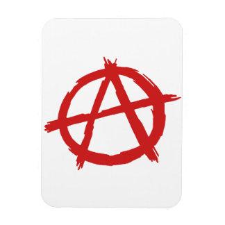 Anarquista rojo un logotipo de la anarquía del imán flexible