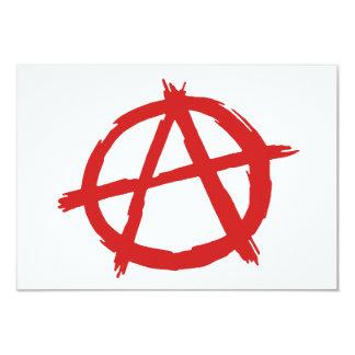 """Anarquista rojo un logotipo de la anarquía del invitación 3.5"""" x 5"""""""