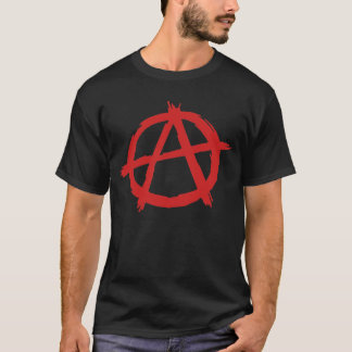 Anarquista rojo un logotipo de la anarquía del playera