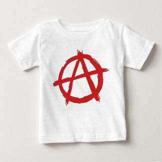 Anarquista rojo un logotipo de la anarquía del playera de bebé