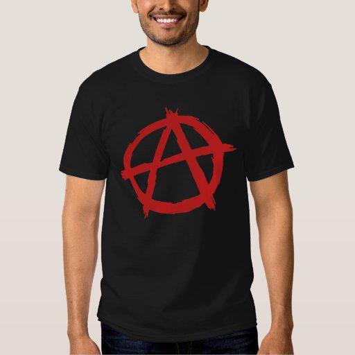 Anarquista rojo un logotipo de la anarquía del poleras