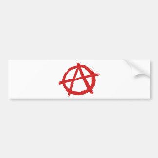 Anarquista rojo un logotipo de la anarquía del sím pegatina para auto