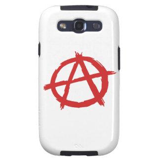 Anarquista rojo un logotipo de la anarquía del sím galaxy s3 cobertura