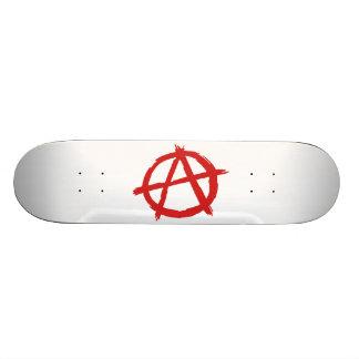 Anarquista rojo un logotipo de la anarquía del sím patines personalizados