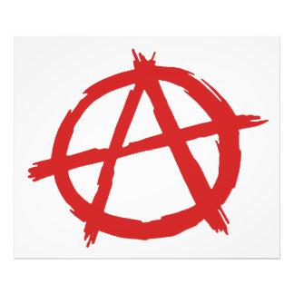 Anarquista rojo un logotipo de la anarquía del sím impresion fotografica