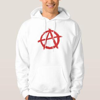 Anarquista rojo un logotipo de la anarquía del sudadera