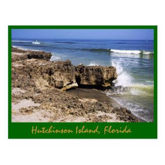 Anastasia Formation, Hutchinson Island, Florida Postcard