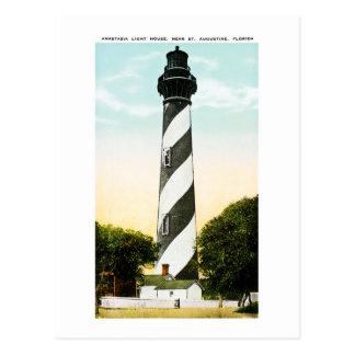 Anastasia Lighthouse Near St. Augustine, Florida Postcard