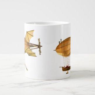 Anastasia Steampunk Airship Coffee Mug