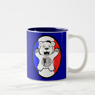 "Anastasio ""Antoine"" French Teddy Bear of Terror Two-Tone Coffee Mug"