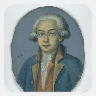 Anastasius Ludwig Mencken, c.1780 Square Sticker
