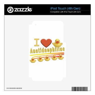 Anatidaephiliac - I LOVE DUCKS Decals For iPod Touch 4G