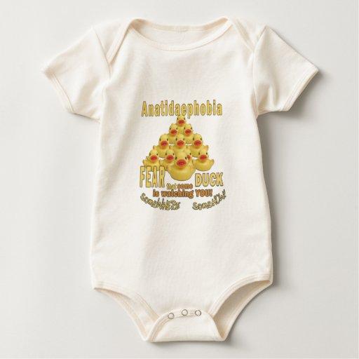 ANATIDAEPHOBIA - ¡MIEDO DE PATOS!  Pato de goma Mameluco De Bebé