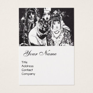 ANATOLIAN GIRLS ,White Pearl Paper Business Card