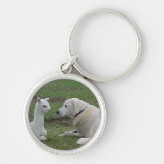Anatolian Shepherd and Alpaca Cria Keychain