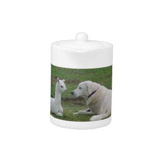 Anatolian Shepherd and Alpaca Cria Teapot
