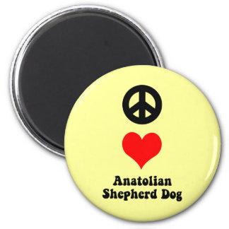 Anatolian Shepherd Dog 2 Inch Round Magnet