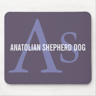 Anatolian Shepherd Dog Breed Monogram Mouse Pad
