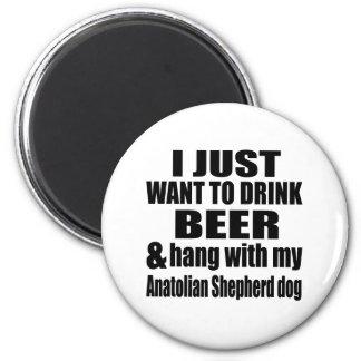 Anatolian Shepherd Dog Designs 2 Inch Round Magnet