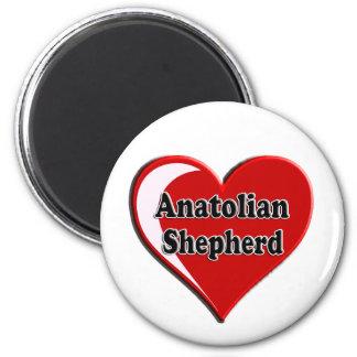 Anatolian Shepherd Dog Heart for Dog Lovers 2 Inch Round Magnet