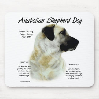 Anatolian Shepherd Dog History Design Mouse Pad