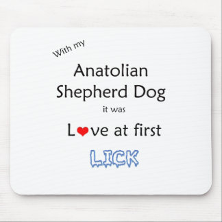 Anatolian Shepherd Dog Lick Design Mouse Pad