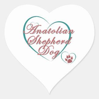 Anatolian Shepherd Dog Love Heart Sticker