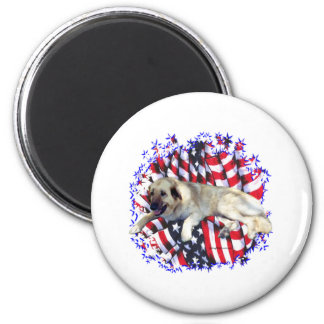 Anatolian Shepherd Dog Patriot 2 Inch Round Magnet