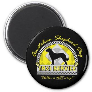 Anatolian Shepherd Dog Taxi Service 2 Inch Round Magnet