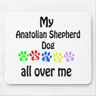 Anatolian Shepherd Dog Walks Design Mouse Pad